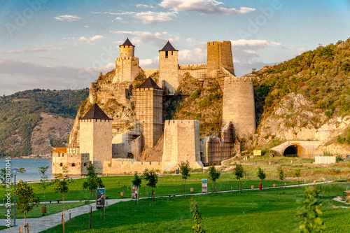 Golubac fortress on the danube river in Serbia