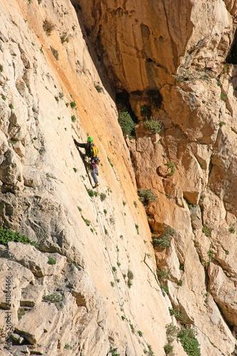 Climbing in Caminito del Rey - 241884466