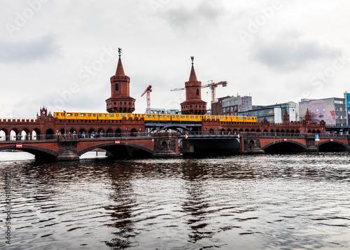 Train on Oberbaum bridge