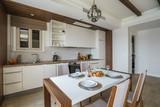 Interior of light spacious living room in a luxury villa - 241886608