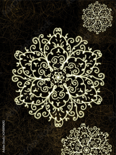 dark background and traditional patterns  card textures - 241890692