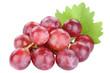 Leinwandbild Motiv Weintrauben Trauben rot rote Früchte Frucht Obst Freisteller freigestellt isoliert