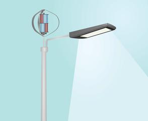 Wind energy street light. vector illustration © marijaobradovic