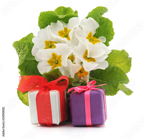 White flowers and gifts. - 241908012