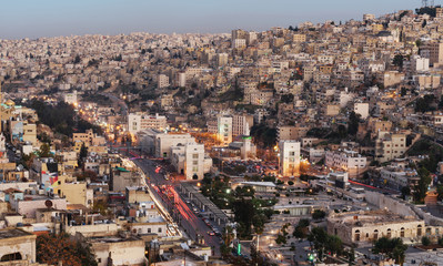 Amman cityscape, capital city in Jordan, Middle East  © SasinParaksa