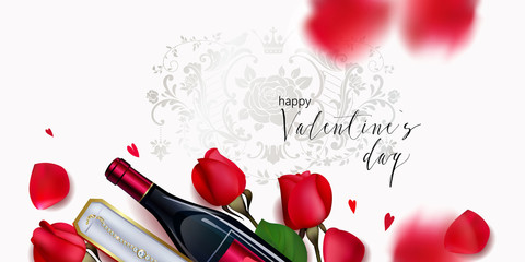 Romantic backgrond for St.Valentines day © Maria