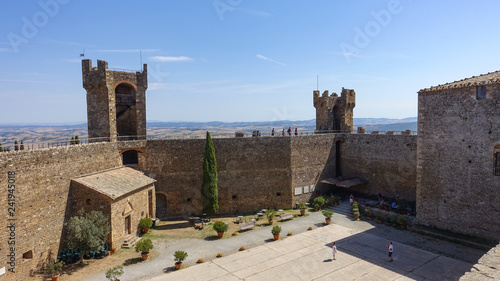 View of Montalcino in Tuscany