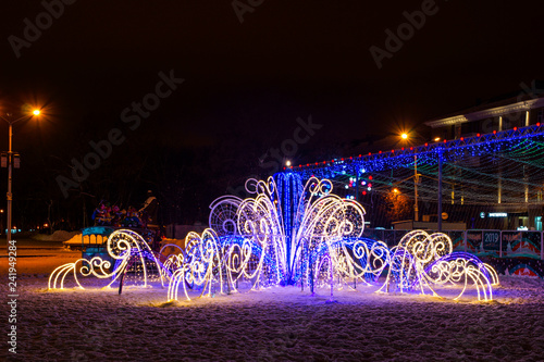 New Year and Christmas 2019 Festive Illumination
