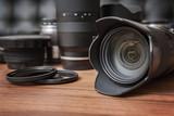 Digital camera, lenses and professional photographer's equipment