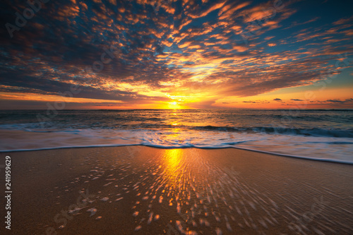 Beautiful sunrise over the sea - 241959629