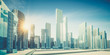 City in clouds 3d rendering - 241970044