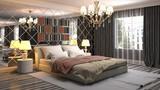 Bedroom interior. 3d illustration - 241972853