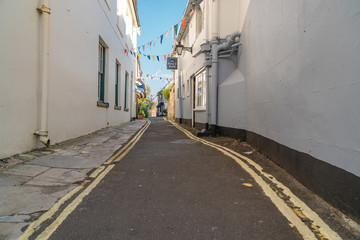 Typical photos of the city of Lymington on the Isle of Wight in UK.