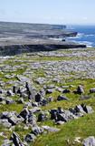 Karst Landscape at Dun Aengus on Inis Mor Island Ireland