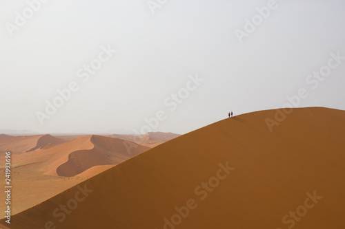 hiking on dunes