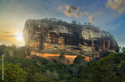 Leinwanddruck Bild Sigiriya Rock Fortress Sri Lanka