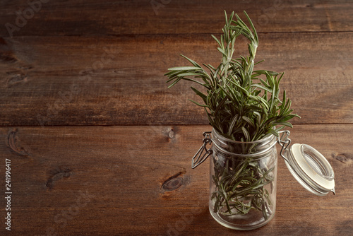 jar of fresh rosemary