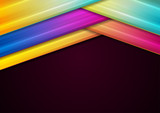 Colorful geometric smooth stripes abstract background - 242008415