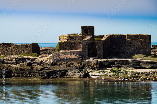Atlantic, ocean, Mogador fortress, sky, observation, walk