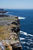 Karst Landscape and Atlantic Ocean on Inis Mor Island Ireland