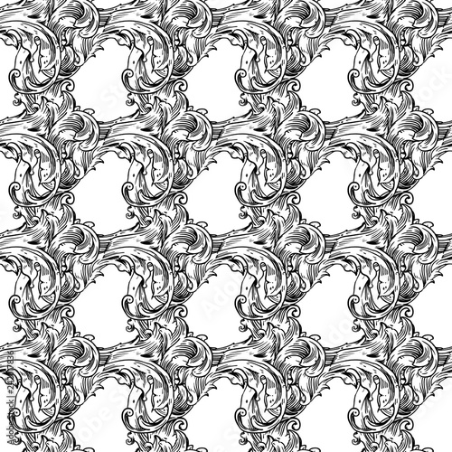 seamless floral pattern - 242017836