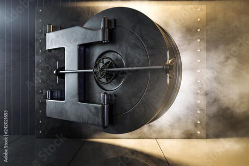 Geöffnteter Tresorraum - 242021653