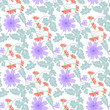 seamless floral pattern with flowers - 242037053