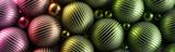 Ozdobne zielone kule 3D na ciemnym tle