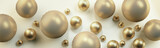 Fototapeta Abstrakcje - Złote kule 3D na jasnym tle © Bartosz