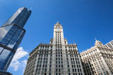 buildings and blue sky in Chicago - 242042858