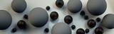 Szare kule 3D na jasnym tle