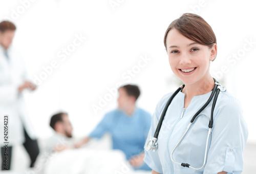 Leinwanddruck Bild medical worker in medical Center