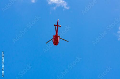 Red Chopper From Below