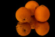 Three Oranges with reflection