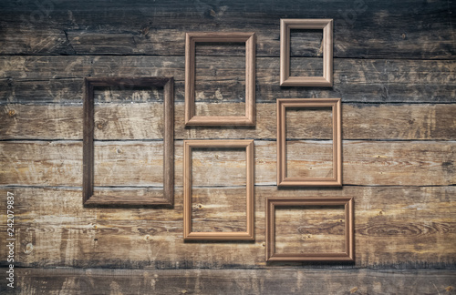 Foto Murales frames on old, wall