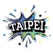Taipei Comic Text in Pop Art Style.