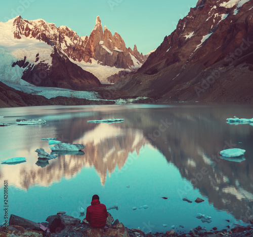 Leinwanddruck Bild Cerro Torre