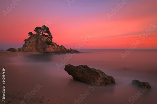 Preciosa y relajante puesta de sol en Cala Cap Roig.