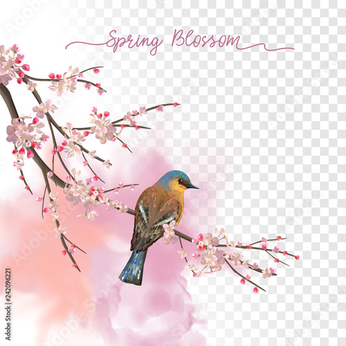Watercolor Spring Blossom