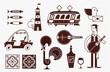 Portugal vector icon set simple modern symbols - 242104447