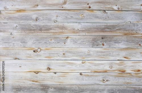 Foto Murales Heller Holzhintergrund mit weiß braunen Holzbrettern