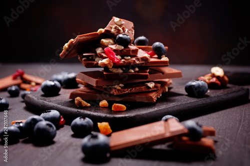 obraz lub plakat schokoladen berg