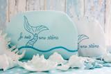 Embroidered aqua cosmetic bag - 242108273