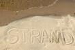 Botschaft im Sand - Strand