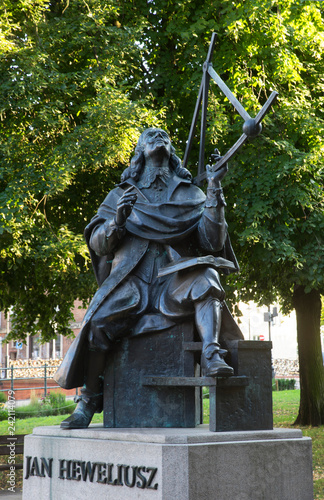 obraz PCV Monument to Johannes Hevelius in Gdansk. Poland