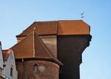 Zuraw ( Historical crane) at Dluga embankment in Gdansk. Poland