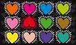 cœur,motif cœur, cœur qui bat en couleurs