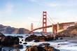 Marshal's beach view point on Golden gate bridge, San Francisco, California.