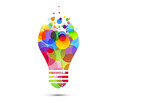 żarówka, pomysł, kolory, kreatywność, pomysły