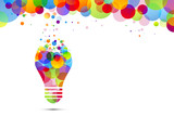 lampadina, idea, colori, creatività, idee